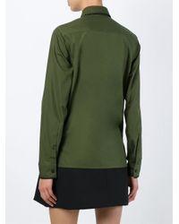 KENZO - Green Cutaway Collar Shirt - Lyst