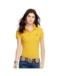 Polo Ralph Lauren - Metallic Skinny-fit Polo Shirt - Lyst