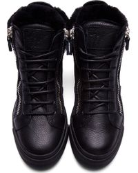 Giuseppe Zanotti | Black Leather Sneakers  | Lyst