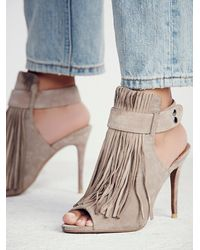 Free People | Brown Stardust Fringe Heel | Lyst