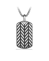 David Yurman - Metallic Modern Chevron Tag for Men - Lyst