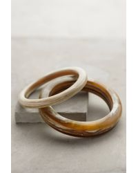 Anthropologie | Metallic Slender Horn Bangle Set | Lyst