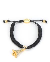 Juicy Couture | Black Pave Eiffel Tower Macrame Bracelet | Lyst