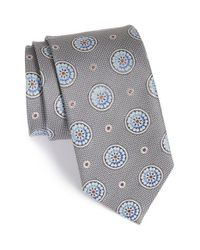 John W. Nordstrom | Gray 'aguero' Medallion Silk Tie for Men | Lyst