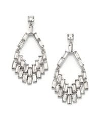 ABS By Allen Schwartz | Metallic Geometric Chandelier Earrings | Lyst