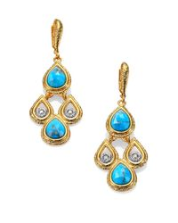 Alexis Bittar | Blue Elements Maldivian Turquoise & Crystal Scalloped Drop Earrings | Lyst