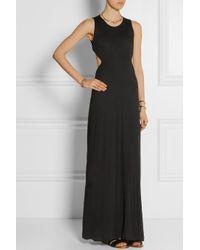 Thakoon Addition | Black Addition Cutout Stretch-Jersey Maxi Dress | Lyst