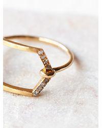 Free People | Metallic Jennie Kwon Womens Cut Out Diamond Ring | Lyst