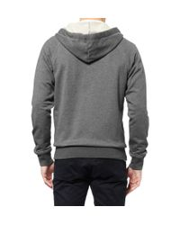Bottega Veneta - Gray Fleecebacked Jersey Hoodie for Men - Lyst
