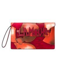 Valentino - Orange 'L'Amour' Clutch - Lyst