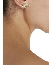 Vivienne Westwood   Metallic Gold Tone Swarovski Orb Earrings   Lyst