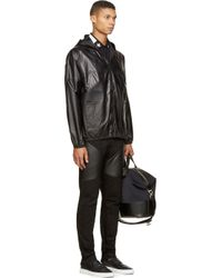 Givenchy - Black Hooded Lambskin Jacket for Men - Lyst