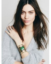 Free People - Green Embossed Plate Cuff - Lyst