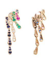 Sabine G - Metallic Emerald And Sapphire Wing Earrings - Lyst