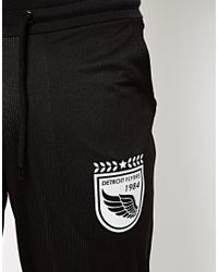 ASOS | Black Skinny Sweatpants in All Over Mesh with Sports Print for Men | Lyst
