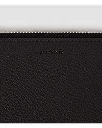 AllSaints - Black Club Zip Around Wallet - Lyst