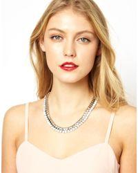 Coast | Metallic Narisa Rhinestone Chain Necklace | Lyst