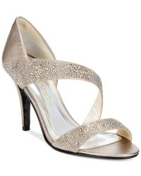 Caparros   Metallic Visage Evening Sandals   Lyst