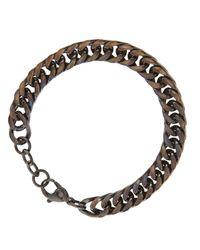 Link Up | Black Curb Chain Bracelet for Men | Lyst
