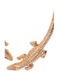 Bernard Delettrez   Metallic Double Crocodile Necklace   Lyst