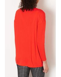 TOPSHOP - Red Maternity Crepe Top - Lyst