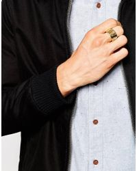 Love Bullets - Metallic Lovebullets Geo Ring for Men - Lyst