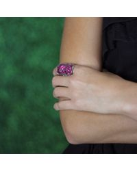 Sylva & Cie | Pink Ruby Ten Table Ring | Lyst