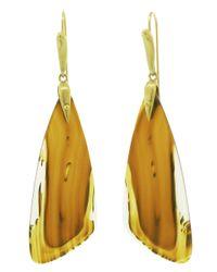 Annette Ferdinandsen | Orange Agate Moth Wing Earring | Lyst