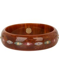 Mark Davis - Brown Multi Gemstone & Bakelite Bangle - Lyst