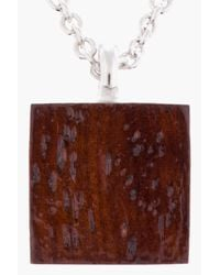 A.P.C. - Metallic Silver and Mahogany Box Necklace for Men - Lyst