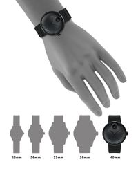 Movado - Black Edge Stainless Steel Watch - Lyst