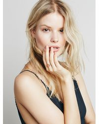 Free People - Metallic Sunstone Slice Ring - Lyst