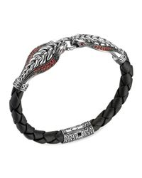 John Hardy | Metallic Double Cobra Head Bracelet for Men | Lyst