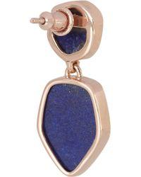 Monica Vinader - Blue Atlantis Rose Goldplated Lapis Lazuli Earrings - Lyst