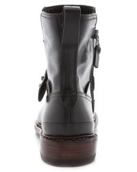 Rag & Bone - Ashford New Moto Booties - Black - Lyst