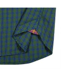 Paul Smith - Men's Green And Blue Mini-check Cotton-twill Shirt for Men - Lyst