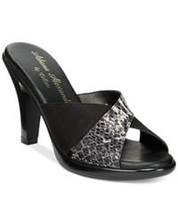 Callisto | Black Rozie Slide Sandals | Lyst
