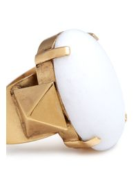 Ela Stone | Metallic Louise Stone Ring | Lyst