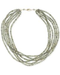 Macy's - Green Labradorite Six-row Necklace (270 Ct. T.w.) In 14k Gold Over Sterling Silver - Lyst
