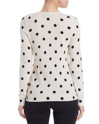 Lord & Taylor | Black Cashmere Polka Dot Sweater | Lyst