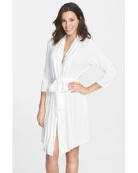 Fleur't - White 'take Me Away' Short Robe - Lyst