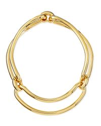 Balenciaga | Metallic Maillon Metal Clip Necklace | Lyst
