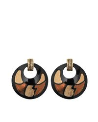 Gas Bijoux | Black Shagreen Earrings | Lyst