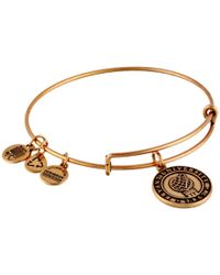 ALEX AND ANI - Metallic Bryant University™ Logo Charm Bangle - Lyst