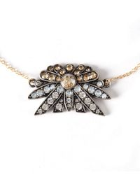 Lulu Frost | Metallic Silver-tone Larkspur Pendant Necklace | Lyst