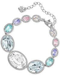 Swarovski   Multicolor Rhodium-tone Colorful Crystal Bracelet   Lyst
