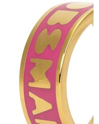 Marc By Marc Jacobs - Logo Disc-o Pink Enamel Ring - Lyst