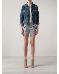 Thakoon Addition - Blue Striped Shorts - Lyst