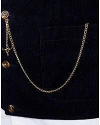 ASOS | Metallic Albert Chain With Animal Head In Gold for Men | Lyst