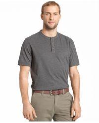 G.H. Bass & Co. | Gray Heathered Henley T-shirt for Men | Lyst